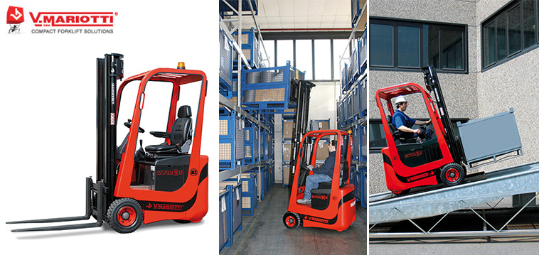 Compact Electric Forklift upto 1.3t (V. MARIOTTI, Italy)